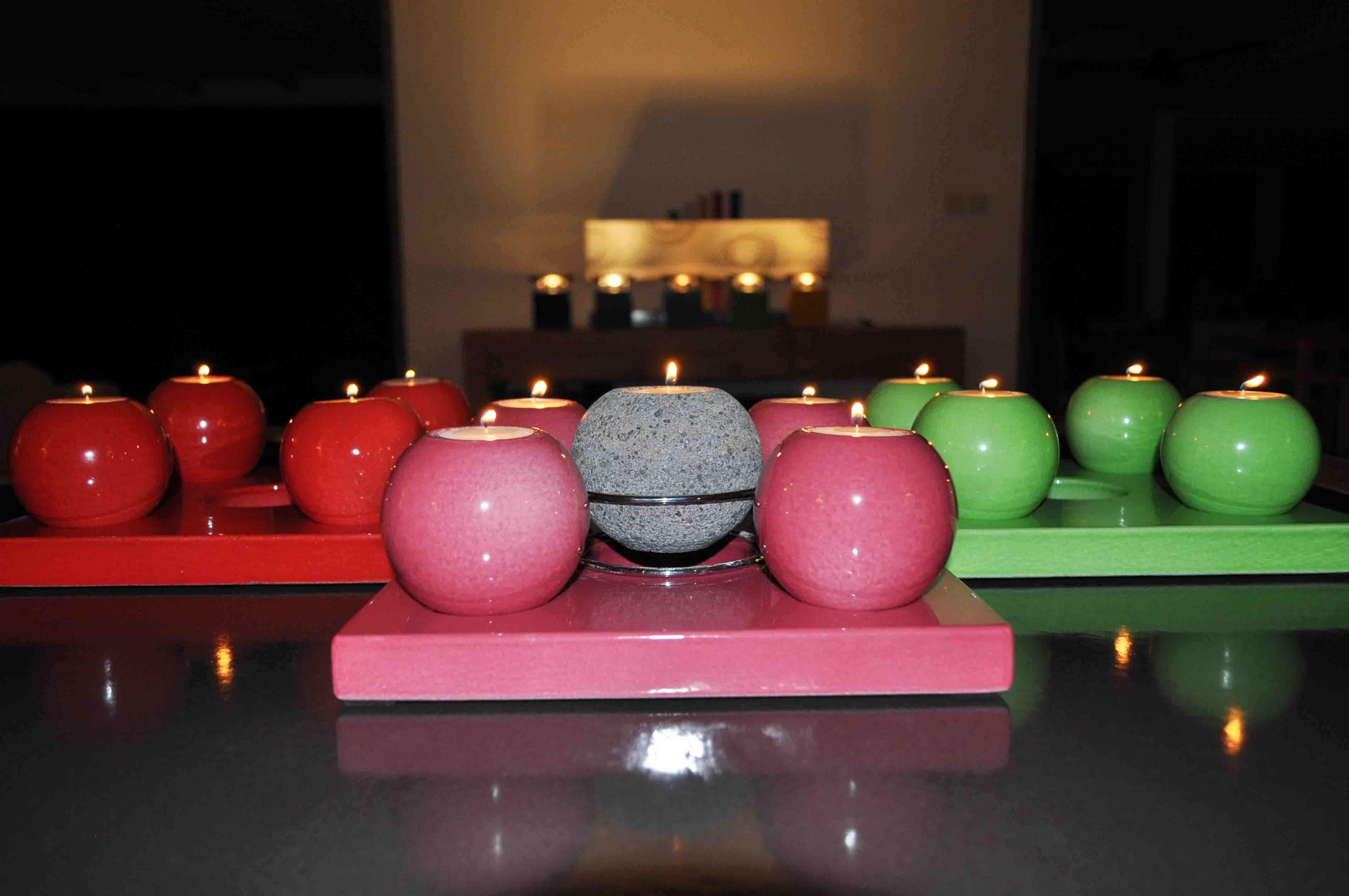 Bougies pierre de lave