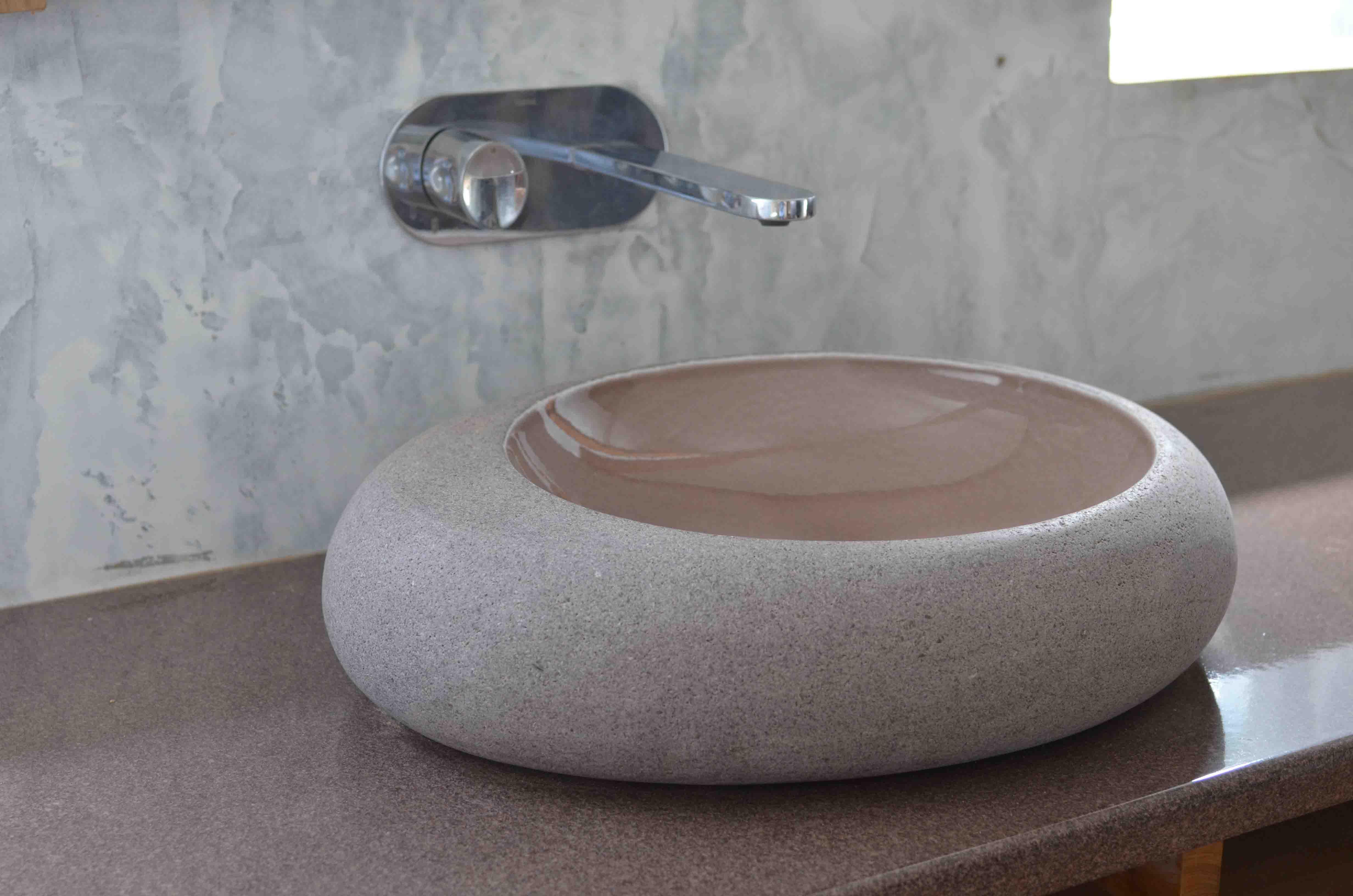 Innovation-drop-water-buble-grey-brown-bois-teak-nature-couleur-lave-volcan-émaille-céramique-France-Luxe