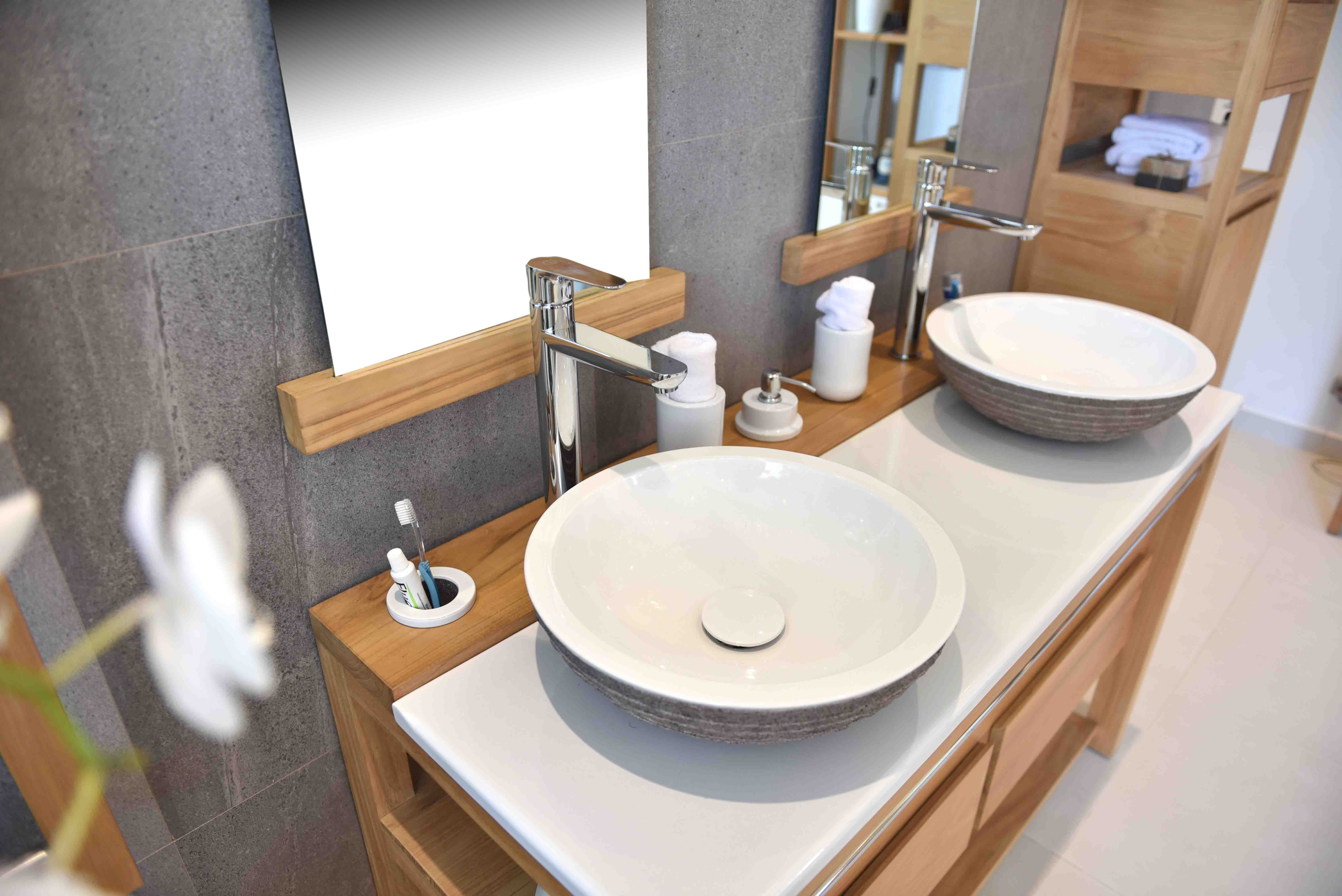 Set-blanc-double-sink-suoh-130-mirrors-furniture-bois-teak-nature-couleur-lave-volcan-émaille-céramique-France-Luxe