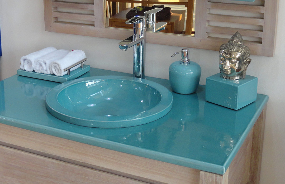 Vasque à encastrer lave émaillée