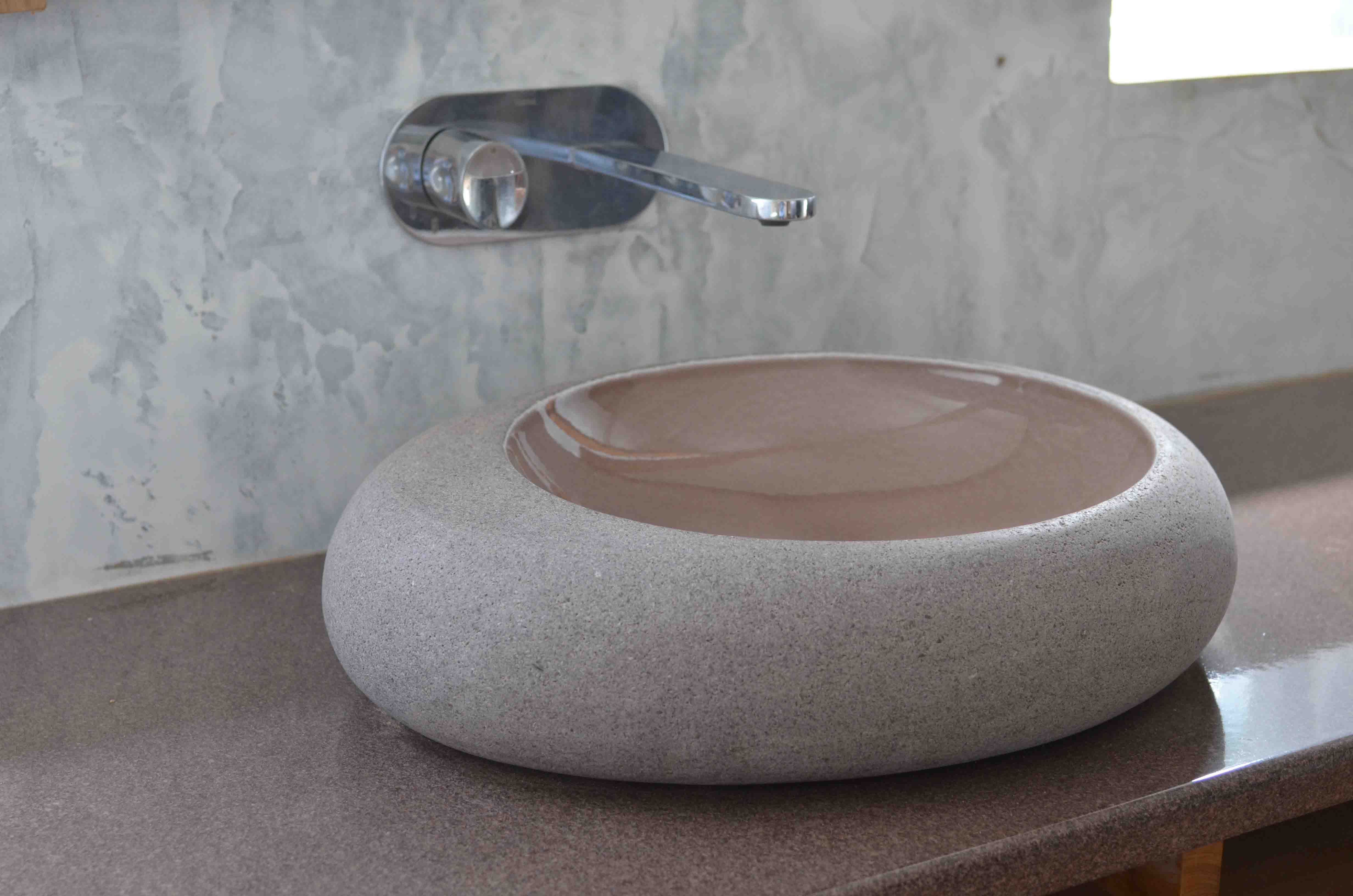 Innovation-drop-water-buble-grey-brown-bois-teak-nature-couleur-lave-volcan-émaille-céramique-France-Luxe