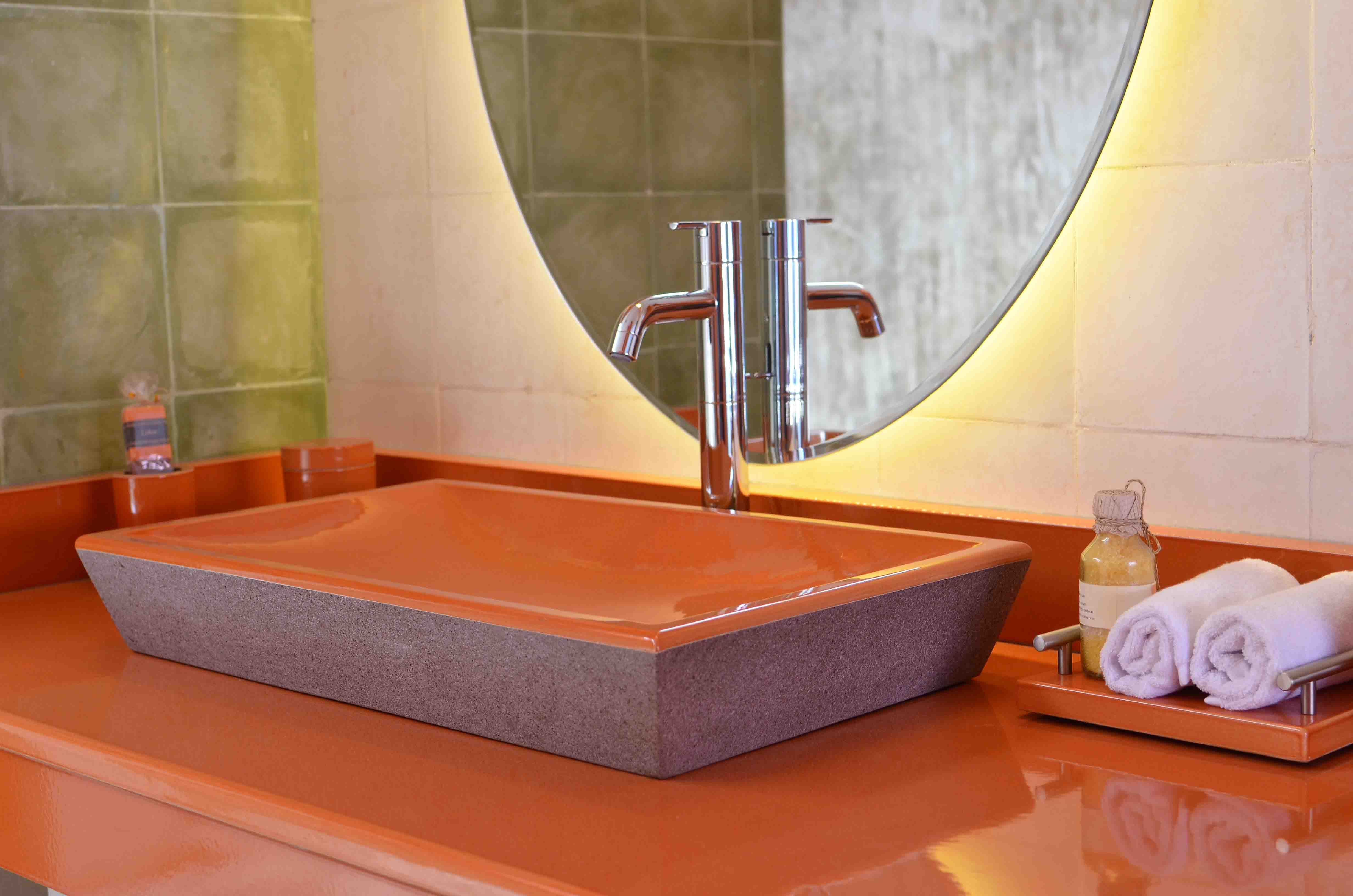 Lava stone bathrooms